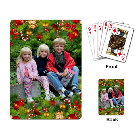 Christmas Playing Cards By Deborah   Playing Cards Single Design   Gkj4g62g6pyr   Www Artscow Com Back