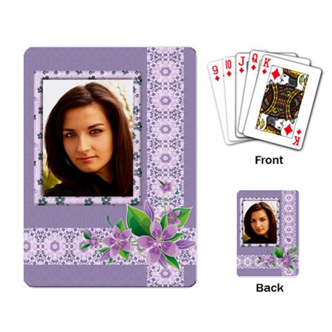 Shades Of Violet Playing Cards By Deborah   Playing Cards Single Design   5ngxn6twf2ed   Www Artscow Com Back