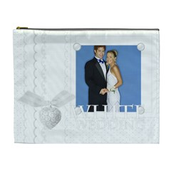 White Wedding By Joely   Cosmetic Bag (xl)   1rif0i4uk4vw   Www Artscow Com Front