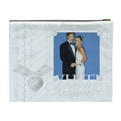 White Wedding By Joely   Cosmetic Bag (xl)   1rif0i4uk4vw   Www Artscow Com Back
