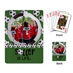 Soccer is Life- playing cards - Playing Cards Single Design