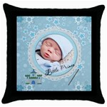 Little Prince Throw Pillow Case - Throw Pillow Case (Black)