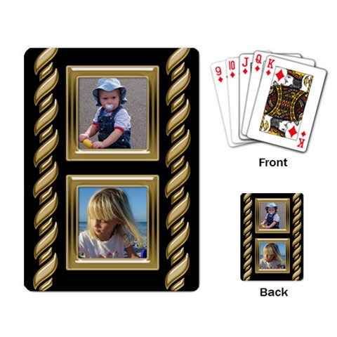 Black And Gold Playing Cards By Deborah   Playing Cards Single Design   Bq6hj6v3duux   Www Artscow Com Back