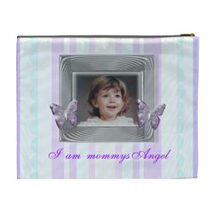 Mommys Angel Stripe Cosmetic Bag By Claire Mcallen   Cosmetic Bag (xl)   L7z9fknr36x1   Www Artscow Com Back