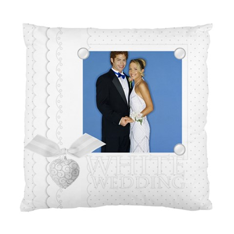 White Wedding By Joely   Standard Cushion Case (one Side)   F7nr71c9n1vp   Www Artscow Com Front