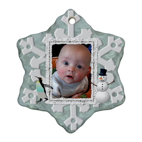 Winter Snowflake Ornament (1 Sided) By Lil    Ornament (snowflake)   O8uhuoenzrvv   Www Artscow Com Front