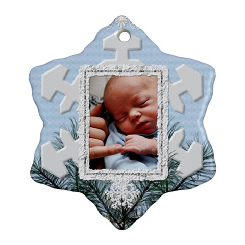 Christmas Snowflake Ornament (1 Sided) By Lil    Ornament (snowflake)   Pbwamhb8szhw   Www Artscow Com Front