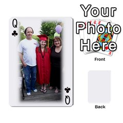 Queen Grandpa Family Cards By Ashley   Playing Cards 54 Designs   Qfq2ghmecupy   Www Artscow Com Front - ClubQ