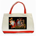 Jolly Santa Merry Christmas Red Gift Bag tote - Classic Tote Bag (Red)