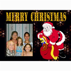 Family Christmas Card By Kim Blair   5  X 7  Photo Cards   6j9f6gnid41x   Www Artscow Com 7 x5 Photo Card - 6