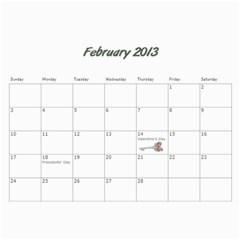 Kowallis By Alisa   Wall Calendar 11  X 8 5  (18 Months)   G835sex7d1y4   Www Artscow Com Feb 2013