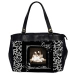 Back to Black Love Oversized Office Bag - Oversize Office Handbag (2 Sides)