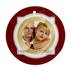 Xmas By May   Round Ornament (two Sides)   1kjr6xyfh8ii   Www Artscow Com Front