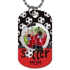 Soccer  Dog Tag (2 Sides) By Mikki   Dog Tag (two Sides)   M91gjaj5rbq0   Www Artscow Com Front