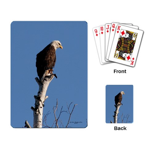 Eagle Cards By Eileen   Playing Cards Single Design   Mkjl39kabcdg   Www Artscow Com Back