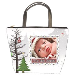 Tis The Season Bucket Bag By Lil    Bucket Bag   57qmzg3wp8fp   Www Artscow Com Front