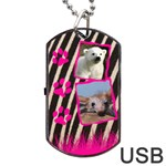 Jungle USB one side - Dog Tag USB Flash (One Side)