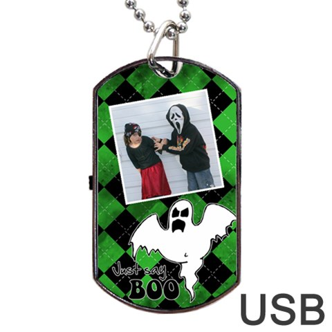 Ghost Usb One Side By Carmensita   Dog Tag Usb Flash (one Side)   6wamntfej503   Www Artscow Com Front