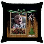Christmas Tree Throw Pillow Case - Throw Pillow Case (Black)