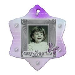 Purple Butterfly Bubble Christmas Tree Ornament By Claire Mcallen   Snowflake Ornament (two Sides)   H6bc2soql9af   Www Artscow Com Front