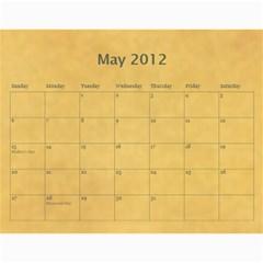 2012 Calendar By Yijie Li   Wall Calendar 11  X 8 5  (12 Months)   Z01uo7nhs2b9   Www Artscow Com May 2012