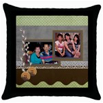 mhelan3 - Throw Pillow Case (Black)