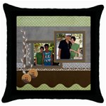 mhelan4 - Throw Pillow Case (Black)