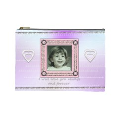 Stitched Frame Pink By Claire Mcallen   Cosmetic Bag (large)   Updaqsykljcu   Www Artscow Com Front