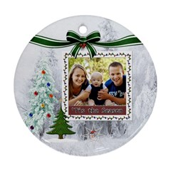 Tis The Season Round Ornament (2 Sided) By Lil    Round Ornament (two Sides)   Vft37agv9yfo   Www Artscow Com Back