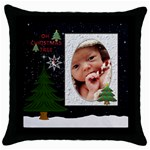Oh Christmas Tree Throw Pillow Case - Throw Pillow Case (Black)