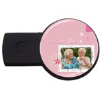i love you - USB Flash Drive Round (1 GB)