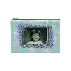 Pink Purple Butterfly By Claire Mcallen   Cosmetic Bag (medium)   9cmm5u83ys09   Www Artscow Com Front