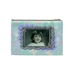 Pink Purple Butterfly By Claire Mcallen   Cosmetic Bag (medium)   9cmm5u83ys09   Www Artscow Com Back