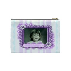 Beautiful Butterfly Stripe By Claire Mcallen   Cosmetic Bag (medium)   Cd21miipx224   Www Artscow Com Back