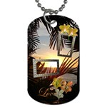 palm sunset 2 shadow frame dog tag - Dog Tag (One Side)