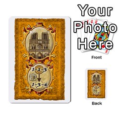 Notre Dame, Cards And Messages For 3 More Players By Peter Dahlstrom   Multi Purpose Cards (rectangle)   6m5kprm5rmdn   Www Artscow Com Front 21