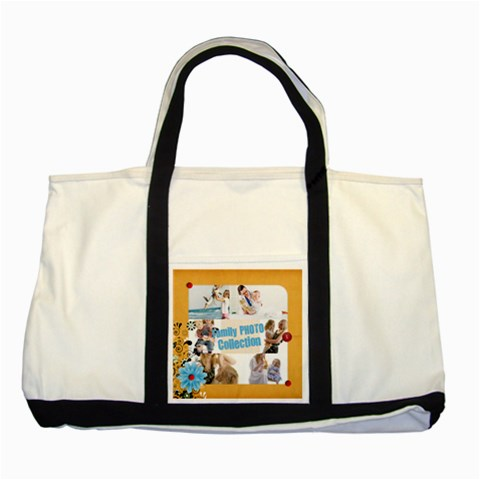 Family By Joely   Two Tone Tote Bag   Rjteligec6ms   Www Artscow Com Front