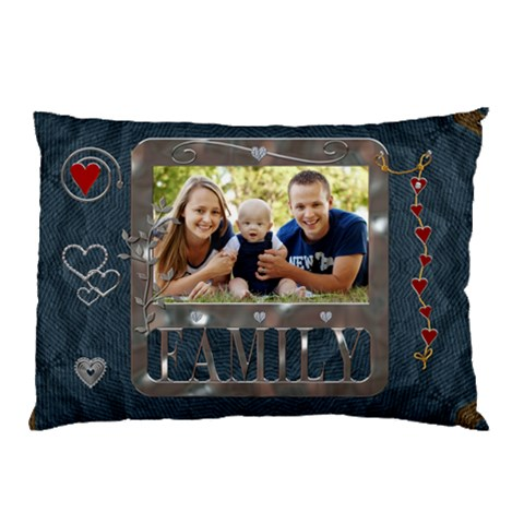 Family Pillow Case (1 Sided) By Lil    Pillow Case   Wuzw8wp6xgax   Www Artscow Com 26.62 x18.9 Pillow Case