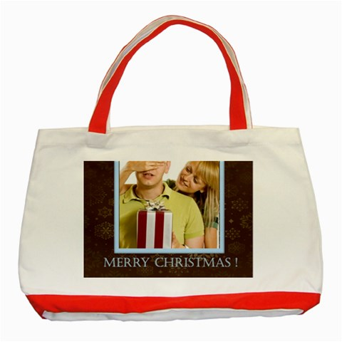 Christmas  By May   Classic Tote Bag (red)   Zke4y77hg4zr   Www Artscow Com Front