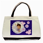 Purple Jenna Tote Bag - Basic Tote Bag (Two Sides)