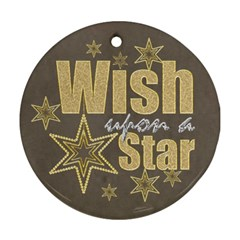 Wish Upon A Star Double Sided Round Ornament By Catvinnat   Round Ornament (two Sides)   Lbg4r56w3hvk   Www Artscow Com Front