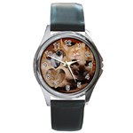 Kitty Watch - Round Metal Watch