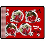 Soccer/football- fleece blanket (extra large) - Fleece Blanket (Large)