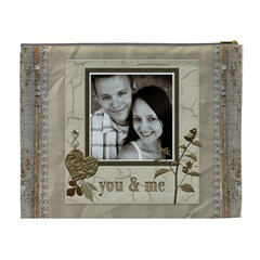 You And Me Xl Cosmetic Bag By Lil    Cosmetic Bag (xl)   F6m7g4mpu3p0   Www Artscow Com Back