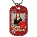merry christmas - Dog Tag (Two Sides)
