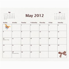 2012cal By Yvette Mouer   Wall Calendar 11  X 8 5  (12 Months)   9qxhymjw399h   Www Artscow Com May 2012