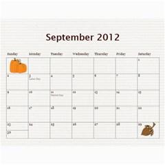 2012cal By Yvette Mouer   Wall Calendar 11  X 8 5  (12 Months)   9qxhymjw399h   Www Artscow Com Sep 2012