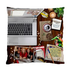 Cushion Case Messy Desk By Kellie Simpson   Standard Cushion Case (two Sides)   6qhl2ugeh8tj   Www Artscow Com Front