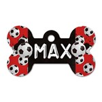 Soccer/football-dog tag bone (2 sides) - Dog Tag Bone (Two Sides)