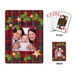 Tartan Garland Christmas Playing Cards - Playing Cards Single Design